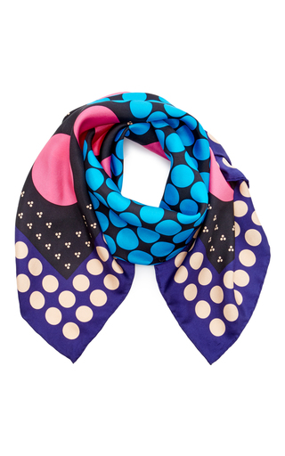 Medium diane von furstenberg blue brunel scarf
