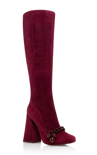 Medium tory burch red addison boot
