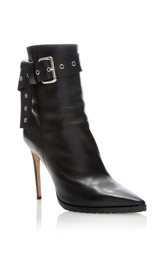 Medium monse black leather bootie