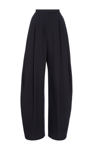 Medium delpozo black high waisted pleated trousers