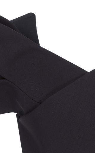 Medium delpozo black sleeveless bow top