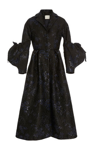 Medium delpozo black coat with voluminous sleeves