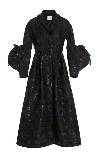 Medium delpozo black coat with voluminous sleeves