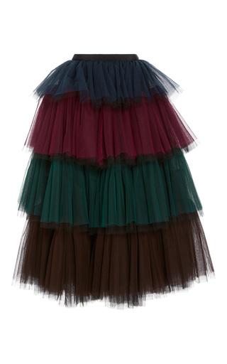 Medium delpozo blue layered tulle skirt