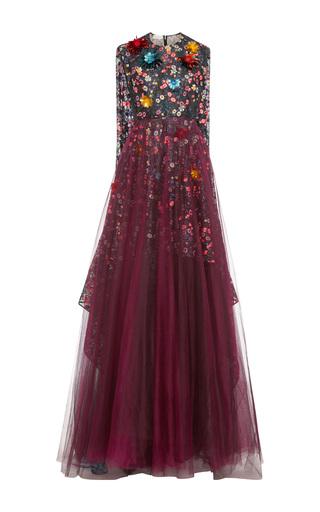 Medium delpozo black sleeveless lace gown