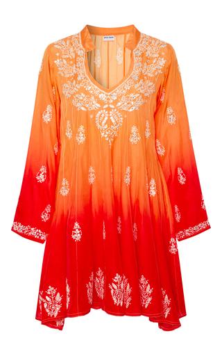 Medium juliet dunn orange embroidered silk dress