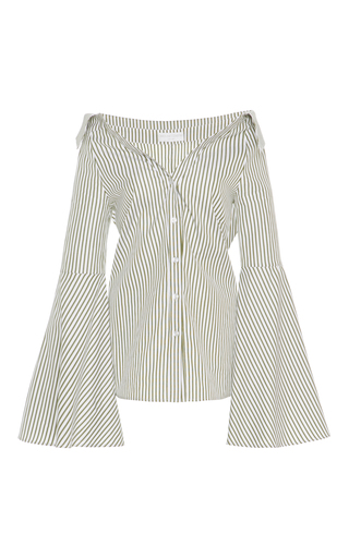 Medium caroline constas stripe striped persephone blouse