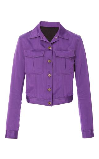 Medium rosie assoulin purple denim jacket