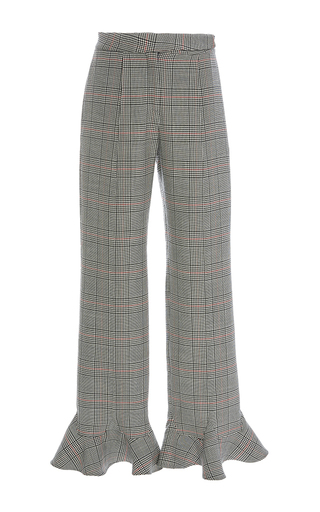 Medium rosie assoulin plaid front thigh seam pant
