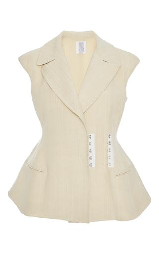 Medium rosie assoulin neutral sleeveless peplum vest