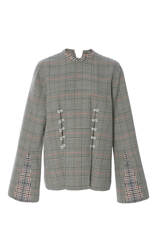 Medium rosie assoulin plaid long sleeve h e top