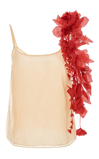Medium rosie assoulin pink camisole with removable flowers