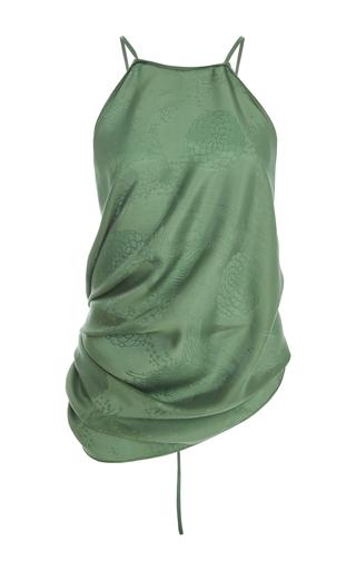 Medium rosie assoulin green cowl halter top