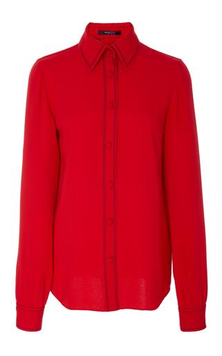 Medium derek lam red button down shirt