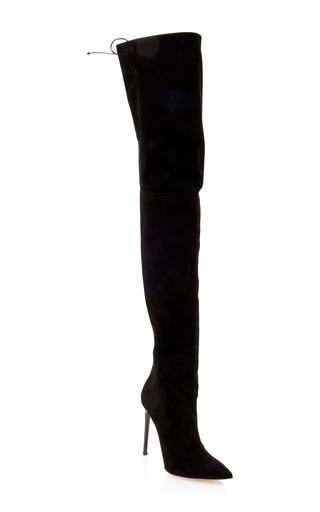 Medium oscar de la renta black frederikke suede boot