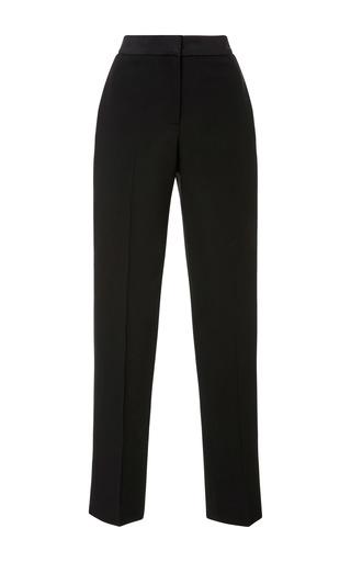 Medium oscar de la renta black straight leg trousers