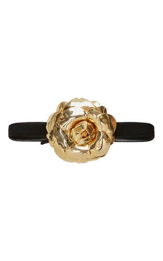 Medium oscar de la renta gold gold floral belt