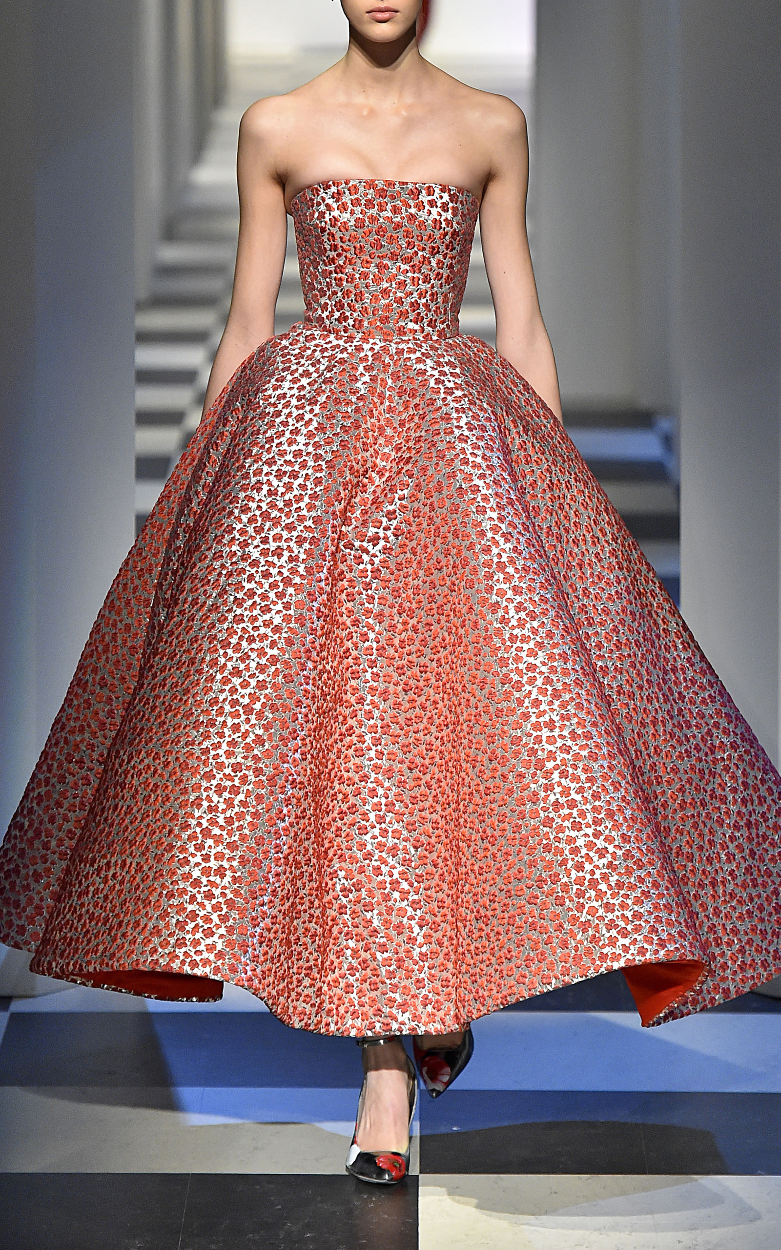 Oscar de la Renta Knee-Length Printed Dress Cheap Sale Manchester Buy Cheap Low Shipping Fee In China Cheap Price New Style BF47jYvnt
