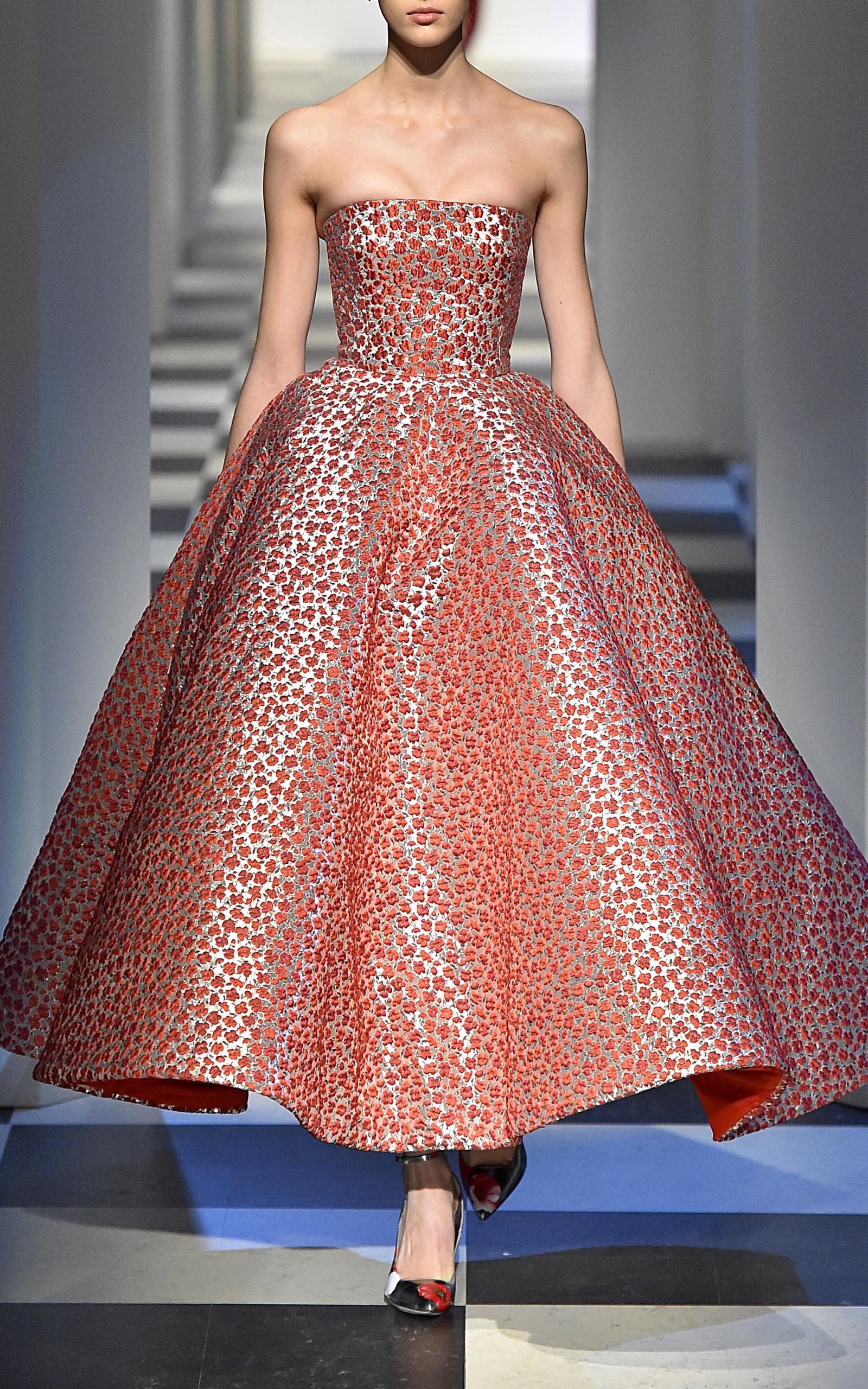 Sleeveless Tea Length Gown Oscar De La Renta 5SSXRmj