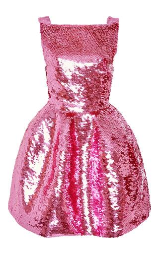 Medium oscar de la renta pink sequin cocktail dress