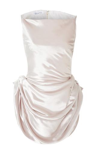 Medium oscar de la renta silver bateau neckline velvet top