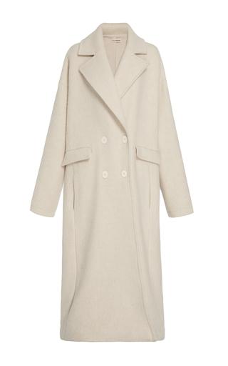 Medium ulla johnson neutral frances double breasted overcoat