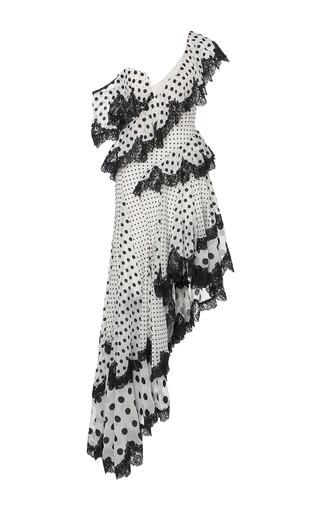 Medium zimmermann print rife dally asymmetrical dress