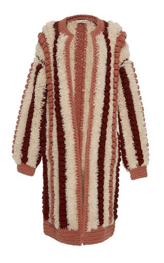 Medium ulla johnson pink mona crochet bobble cardigan