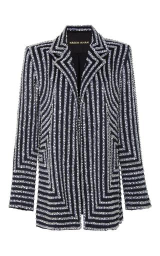 Medium naeem khan multi embellished long sleeve jacket