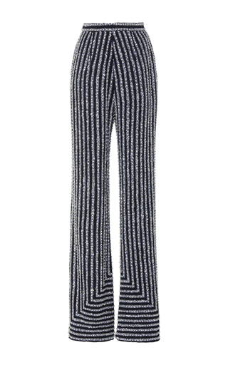 Medium naeem khan multi embellished wide leg trousers
