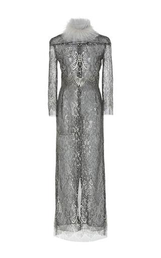 Medium j mendel black long sleeve midi dress