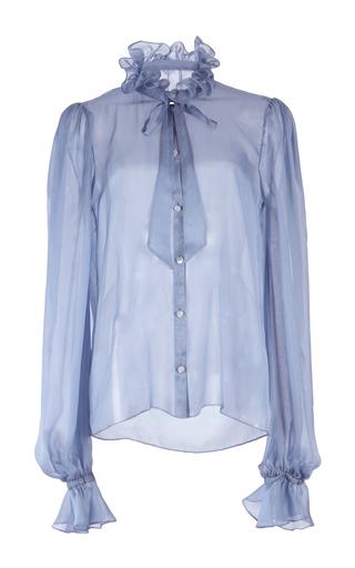 Medium temperley london blue costume silk shirt
