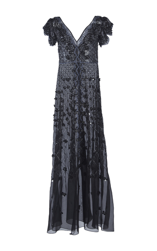 Medium temperley london black jewellery beaded gown