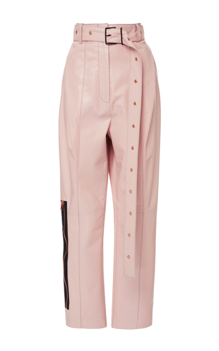 Medium proenza schouler pink belted straight leather pant