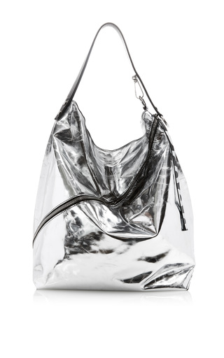 Medium proenza schouler silver large metallic leather hobo