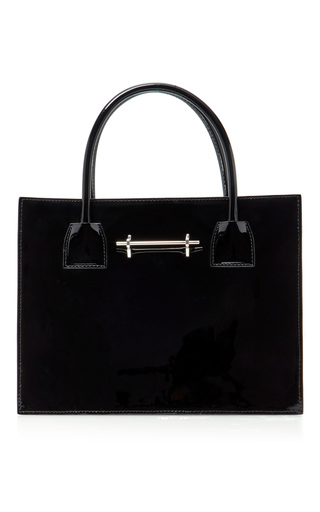 Medium m2malletier black patent mini tote