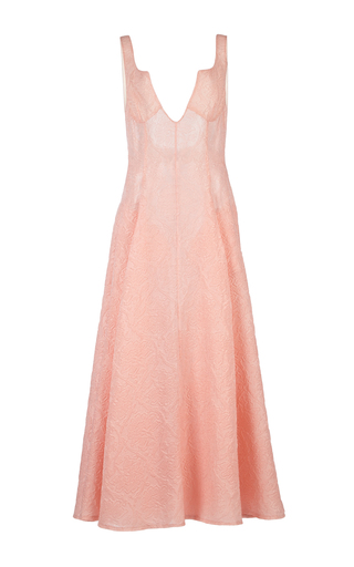 Medium emilia wickstead pink isabella jacquard dress