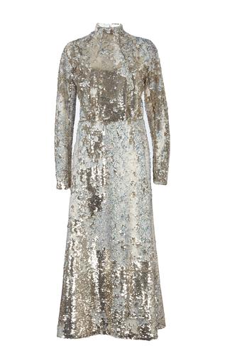 Medium emilia wickstead gold roma sequin embroidered dress
