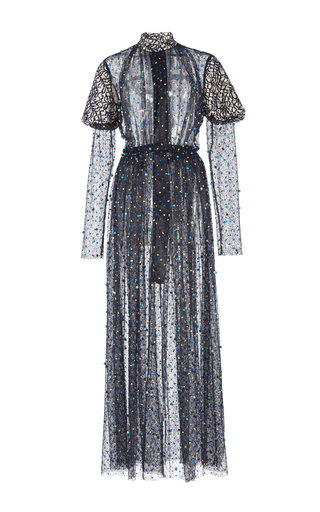Medium emilia wickstead black ebony dot lace dress