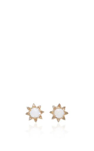 Medium anna sheffield gold rosette starlight ear jacket stud earrings