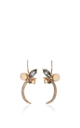 Medium anna sheffield black butterfly chrysalis earring