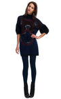 Mohair Orchid Sweater Dress by FENDI for Preorder on Moda Operandi