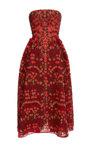 Medium zac posen multi orange blossom embroidered dress
