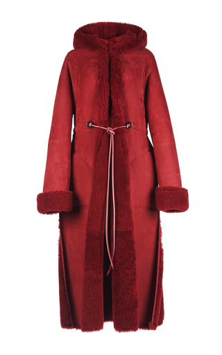 Medium roksanda ilincic burgundy coat with detachable hood