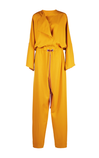 Medium roksanda ilincic yellow tamiko crepe jumpsuit