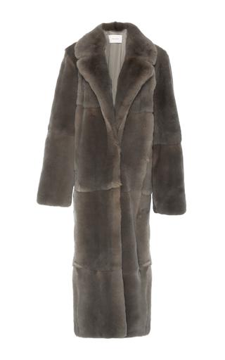 Medium ryan roche brown rabbit fur coat