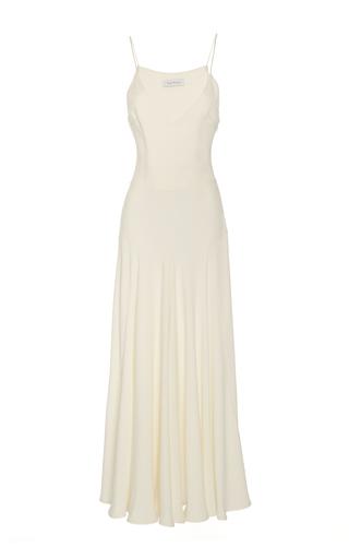 Medium ryan roche white bias cut tank dress