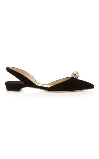 Medium paul andrew black crystal embellished slingback flats