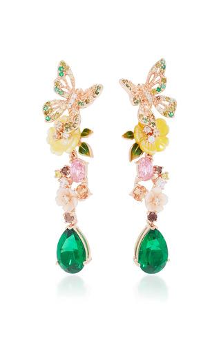 Medium anabela chan green emerald vine earrings