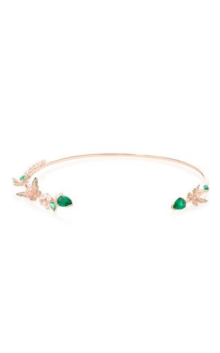 Medium anabela chan green butterfly emerald collar